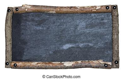 Rustic blackboard