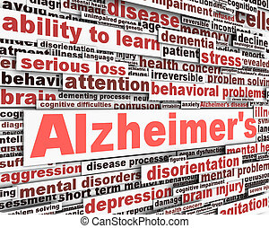 Alzheimer's disease message design. Mental health problems...