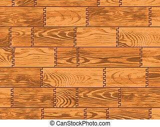 Wooden background. Vector.