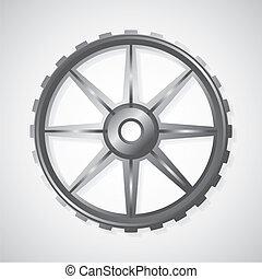 Metal gear - vector illustration