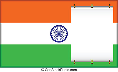 Flag of India On a flag the banner is located