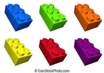 Colorful Toy Build Blocks for Children - Colorful toy build...