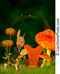 march hare, wonderland