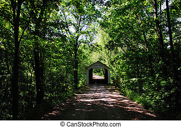 Marchall Covered Bridge - Indiana - Peaceful Country Road to...