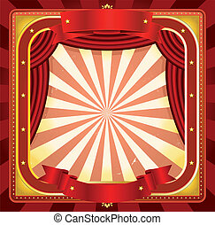 Circus Frame Poster Background - Illustration of a square...