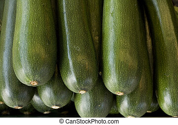 Zucchini / Courgette - Fresh zucchini / courgette on the...