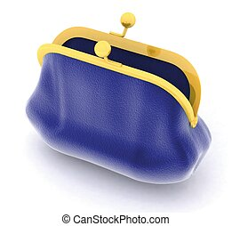 purse on a white background - purse on a white background