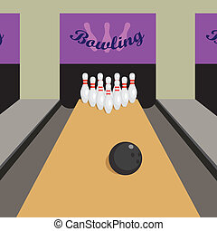 Bowling game - Image of place for play bowling game