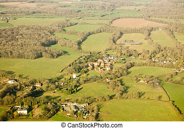Lowfield Heath Windmill, Sussex, Ae - View from an aeroplane...