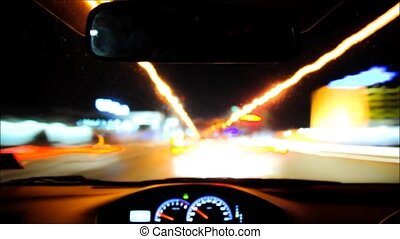 HD timelapse of car driving