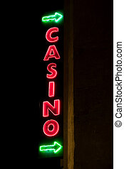 Casino - Shining neon sign  of casino