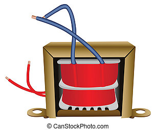 Electrical transformer - Illustration of an electric...