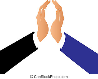 Hands in a pact business logo