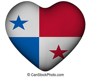 Heart with flag of Panama