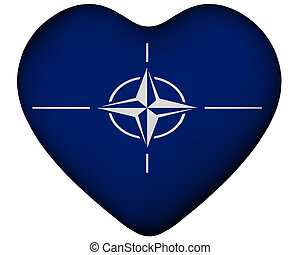 Heart with flag of NATO - Illustration of heart with flag of...