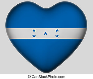 Heart with flag of Honduras