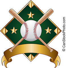 Baseball Design Template Diamond - Illustration of a...