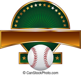 Baseball Design Template Gold Star