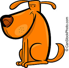caricatura, garabato, lindo, perro