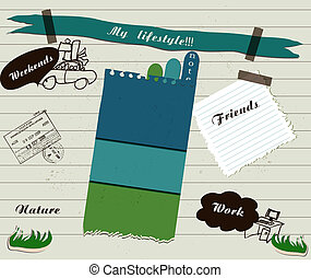 Vector scrapbook details set - scrapbook details set vector...