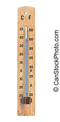 Thermometer in very hot weather, showing 40 degrees celsius