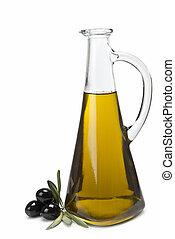Beautiful olive oil bottle.