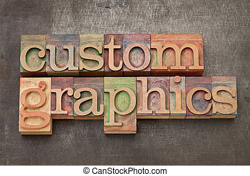custom graphics in wood type - custom graphics - text in...
