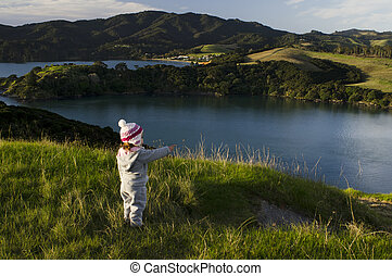 Child travel outdoor - A child travel outdoor near Manganui...