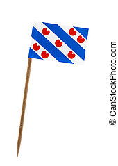 Flag of Friesland - Tooth pick wit a small paper flag of...