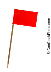 Flag of Macedonia - Tooth pick wit a small paper flag of...