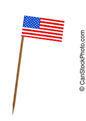 Flag of United States of America, US - Tooth pick wit a...