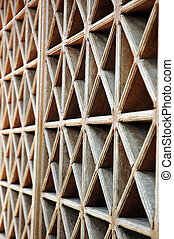 pattern of wood vents