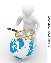 Global search. Isolated 3D image on white