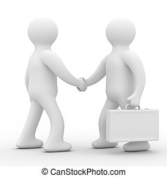 Handshake Meeting two businessmen Isolated 3D image