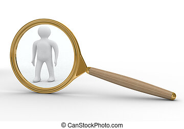 Search of people. Isolated 3D image