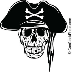 pirate - The vector image of piracy skull