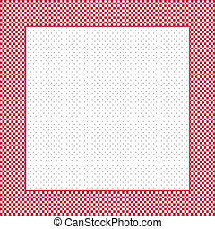 Check Frame, Polka dot Background - Gingham Check Frame in...