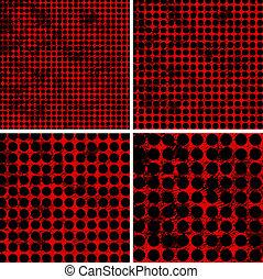 polka dot grunge pattern