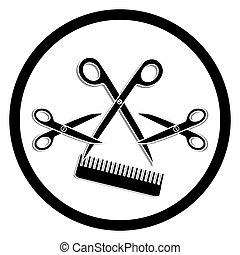 haircut or hair salon symbol