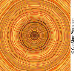 3d wobbly tube orange abstract backdrop