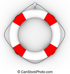 Lifebuoy on a white background Isolated 3D image