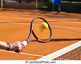 racquet - tennis racquet and the ball