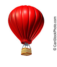 Hot Air Balloon - Hot air balloon rising up as a symbol of...