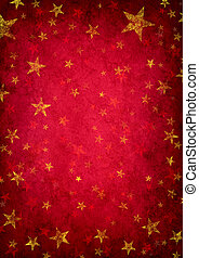 Red Grunge Star Background - Red grunge background with...