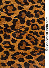 Leopard print pattern - A printed representation of the...
