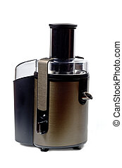 Electric juicer - Electric empty steel juicer. Isolated on...