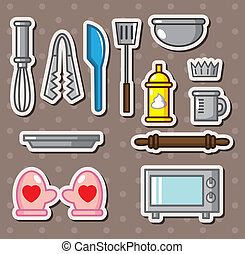 baking tools stickers