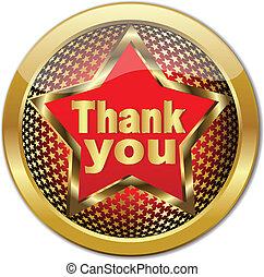 Golden Thank You button