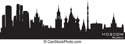 Moscow, Russia skyline Detailed vector silhouette