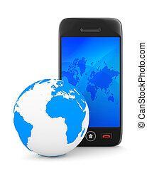 phone on white background Isolated 3D image